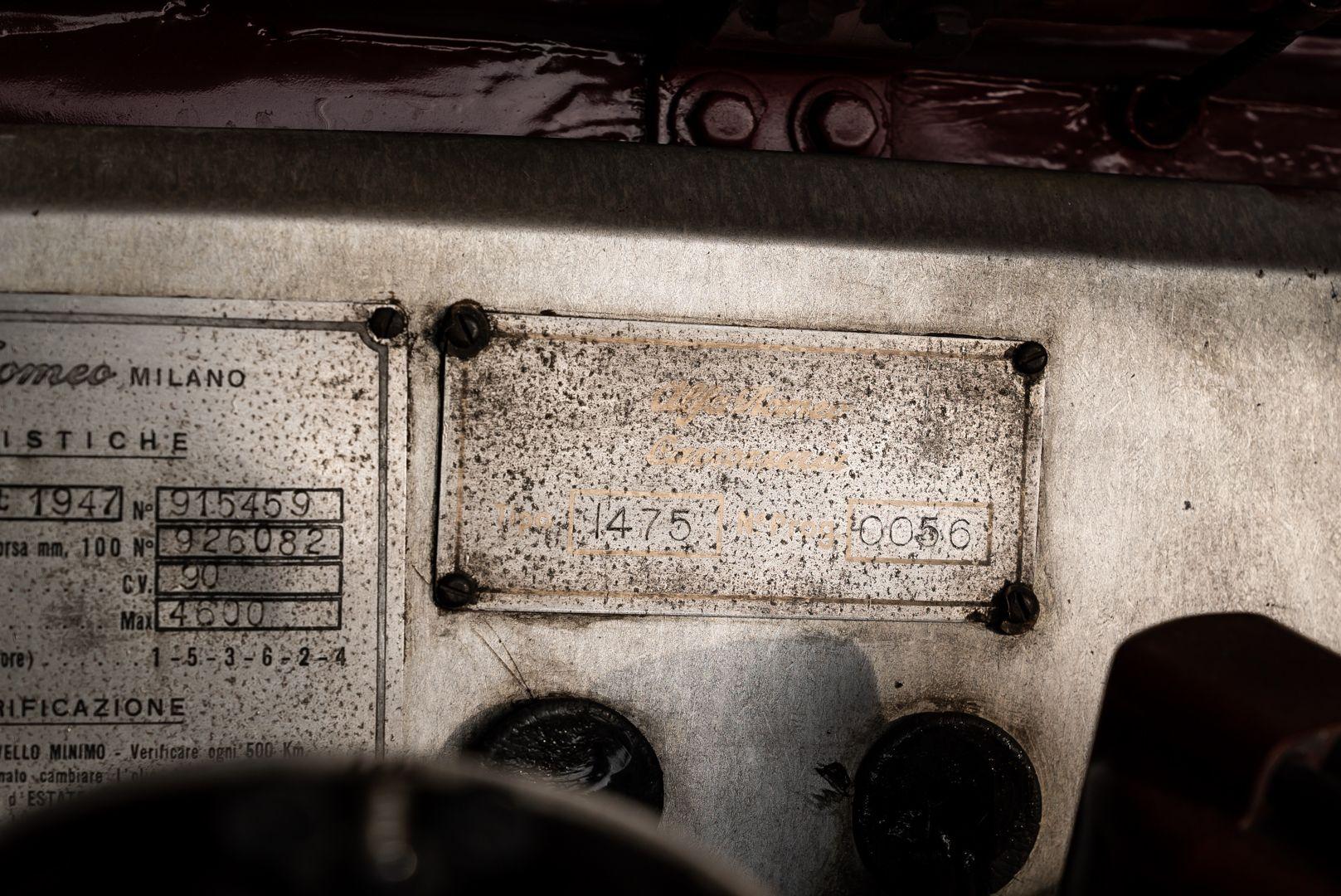 1947 Alfa Romeo Freccia d'oro 6C 2500 Sport 61721