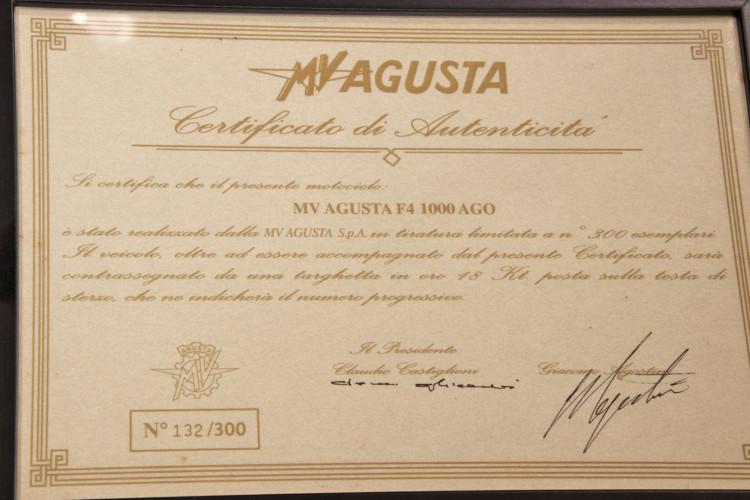 """2004 MV Agusta F4 AGO """"Limited Edition"""" N° 132 / 300 24"""