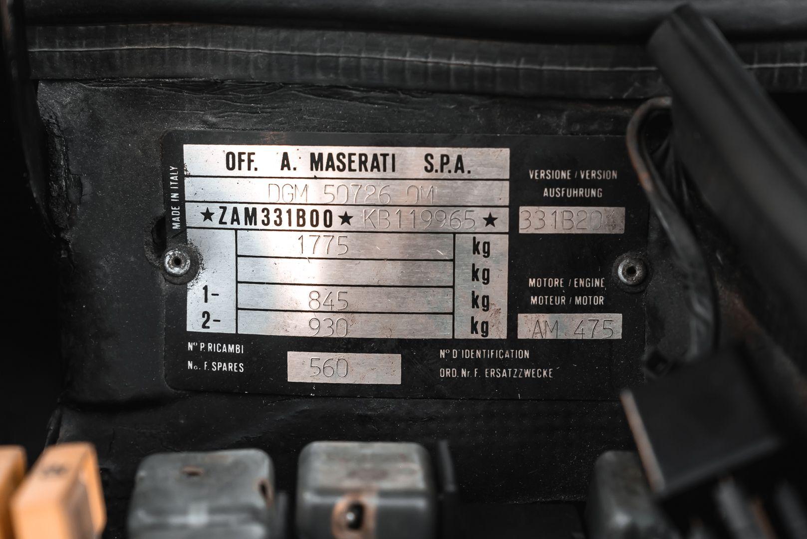 1989 MASERATI BITURBO 2.24V 82046