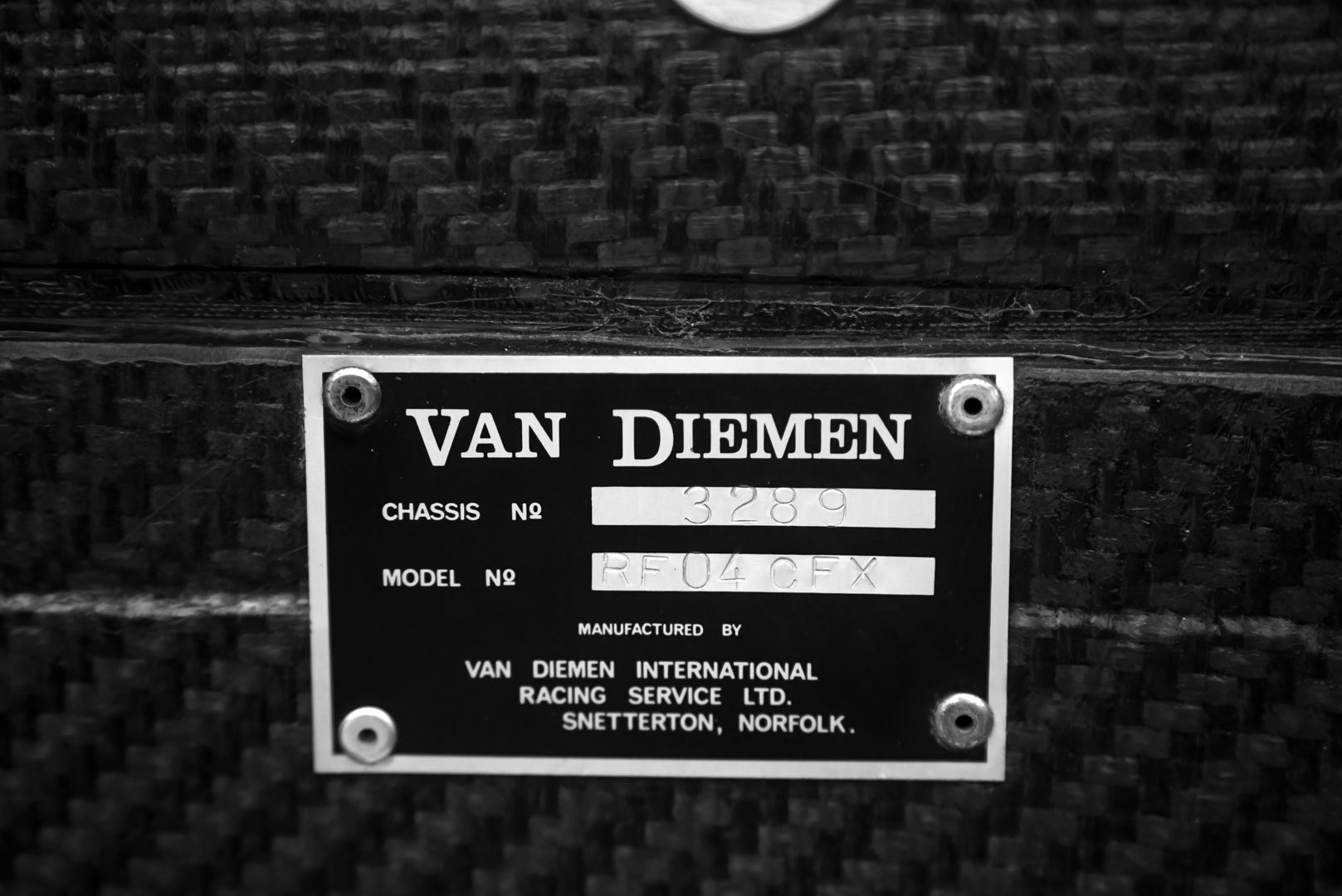2004 Van Diemen Formula X RF04 CFX 68851