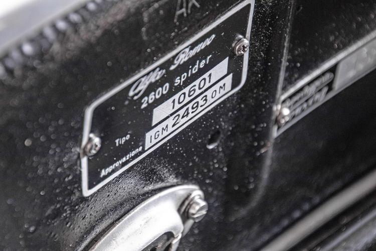 1966 ALFA ROMEO 2600 SPIDER TOURING 49