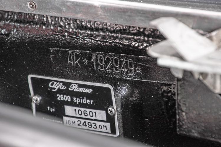 1966 ALFA ROMEO 2600 SPIDER TOURING 52