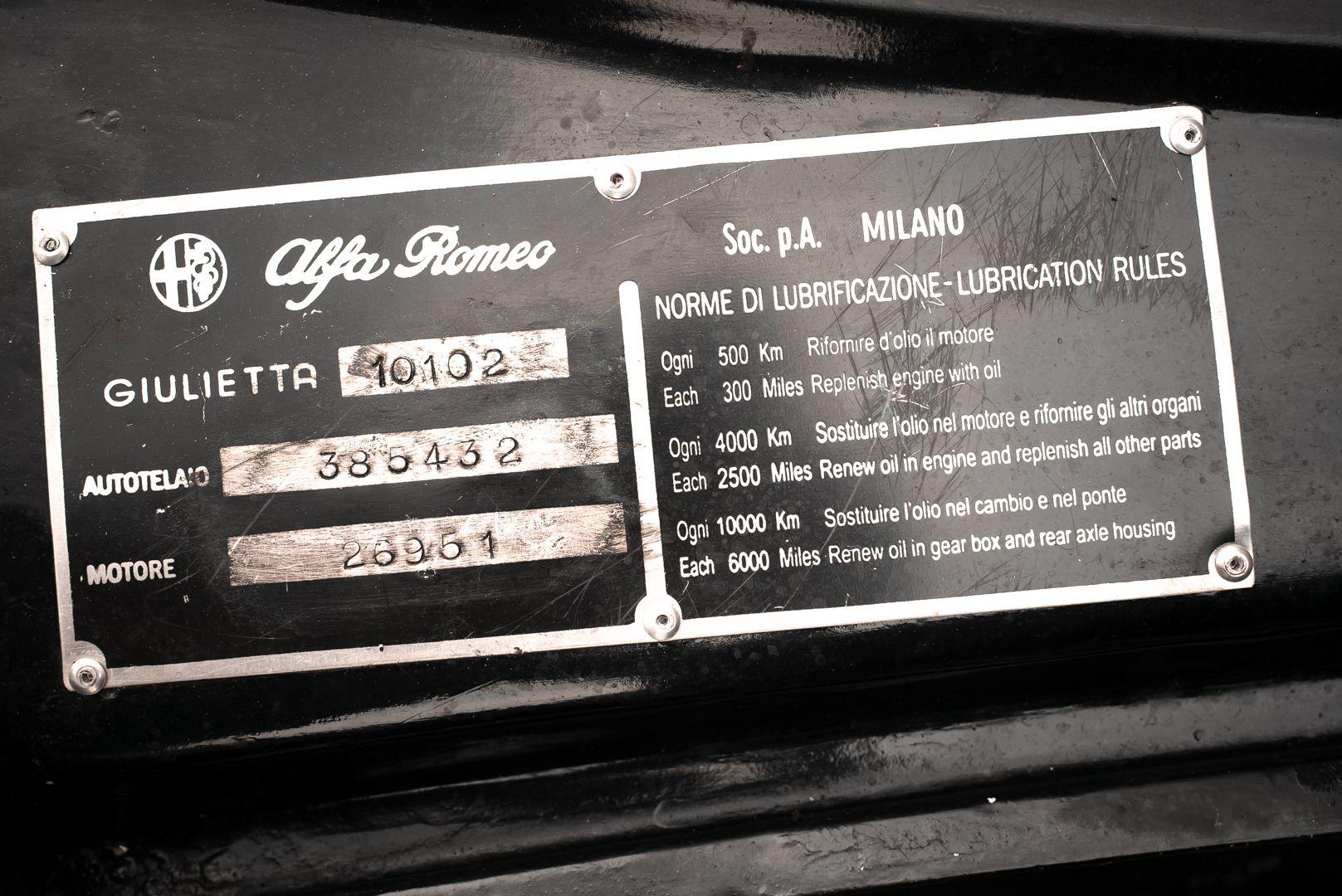 1962 Alfa Romeo Giulietta Sprint 1300 Race Car 69424