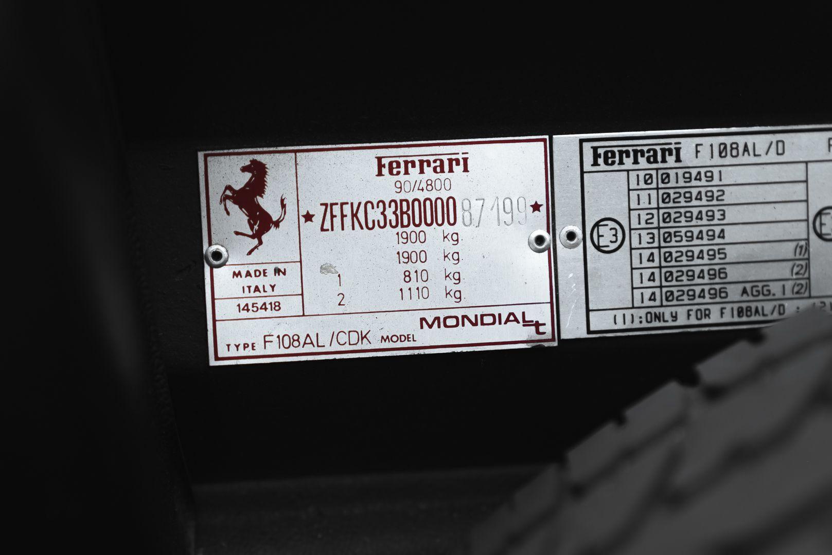 1992 Ferrari Mondial 3.4 T Cabriolet 83190