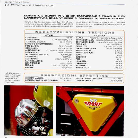 1972 Moto Guzzi V7 Sport Telaio Rosso 76873
