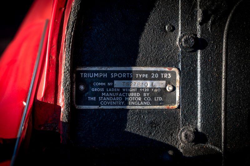 """1958 Triumph TR3A """"Small Mouth"""" 59704"""
