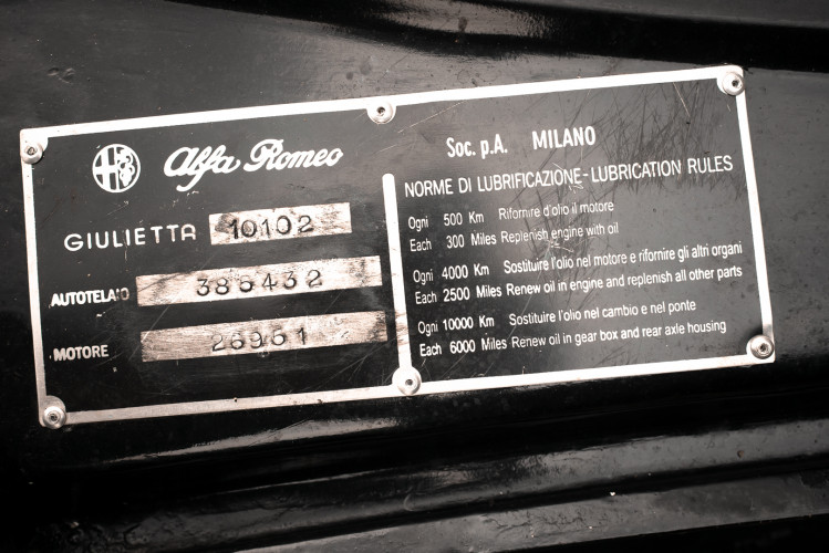 1962 Alfa Romeo Giulietta Sprint 1300 Race Car 37