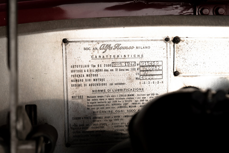 1947 Alfa Romeo Freccia d'oro 6C 2500 Sport 49