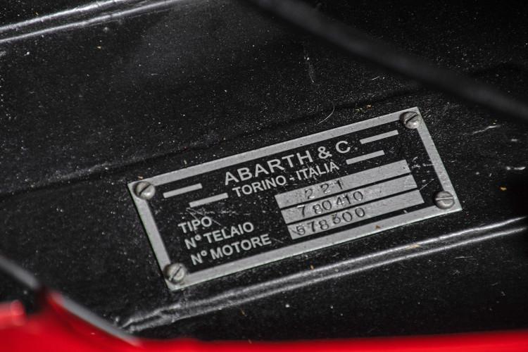 """1960 Fiat Abarth 750/850 Bialbero Record Monza """"Competizione""""  37"""