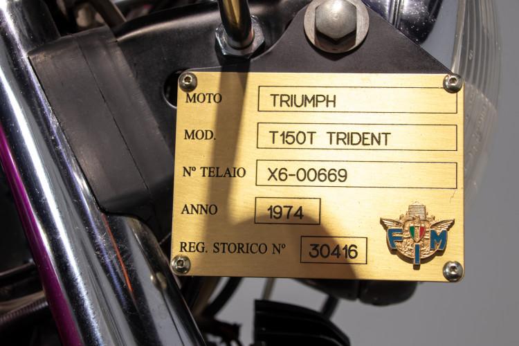 1974 TRIUMPH T 150 T TRIDENT 17